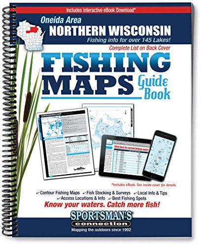 Oneida Area Northern Wisconsin Fishing Map Guide: Sportsman's Connection
