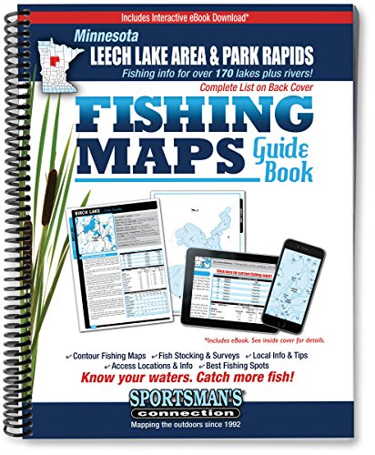9781885010278: Northern Minnesota - Leech Lake Area & Park Rapids Area Fishing Map Guide (Fishing Maps Guide Book)