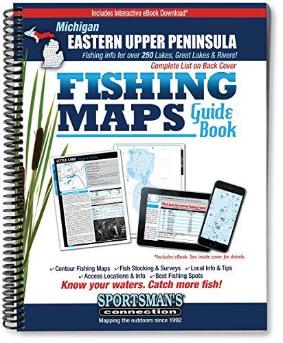 9781885010568: Eastern Upper Peninsula Michigan Fishing Map Guide