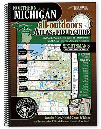 9781885010735: Northern Michigan All-Outdoors Atlas & Field Guide