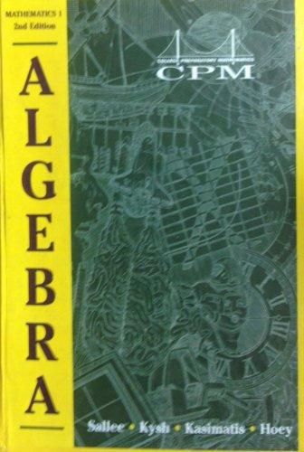 College Preparatory Mathematics 1: Algebra 1 Version
