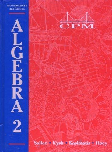 9781885145901: Math 3: Algebra 2