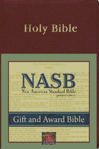 9781885217707: New American Standard Gift & Award Bible; Burgundy Imitation Leather