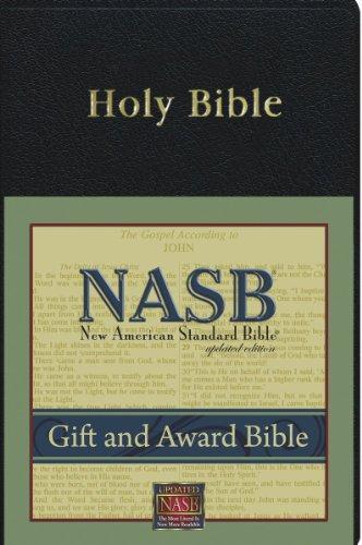 9781885217714: New American Standard Gift & Award Bible; Black Imitation Leather