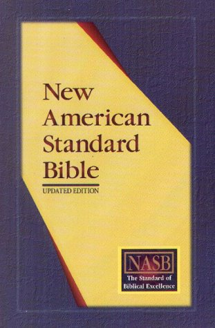 NASB Update Side-Column Reference; Black Genuine Leather; Indexed