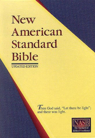 New American Standard Giant Print Bible; Burgundy Imitation Leather