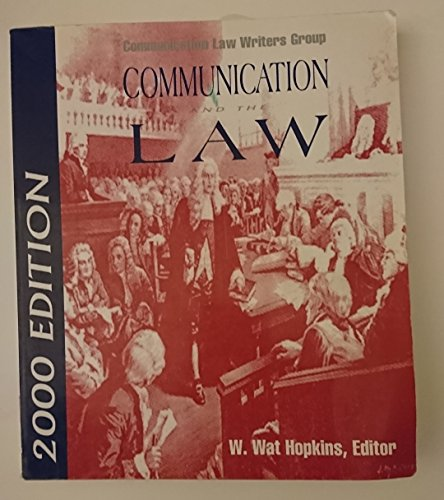 9781885219169: Communication and the Law 2000
