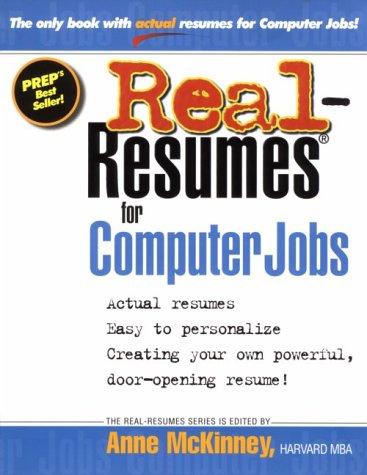 9781885288080: Real-Resumes for Computer Jobs (Real-Resumes Series)