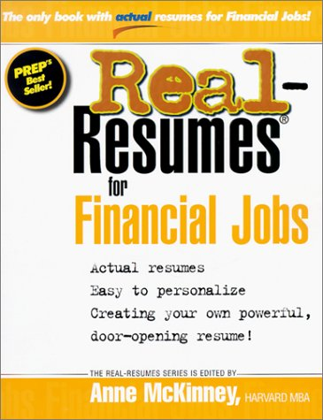 9781885288158: Real-Resumes for Financial Jobs (Real-Resumes Series)