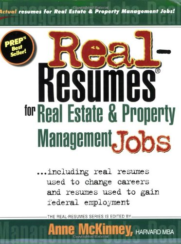 9781885288462: Real-Resumes for Real Estate & Property Management Jobs