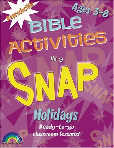 9781885358448: Bible Activities in a Snap: Holidays