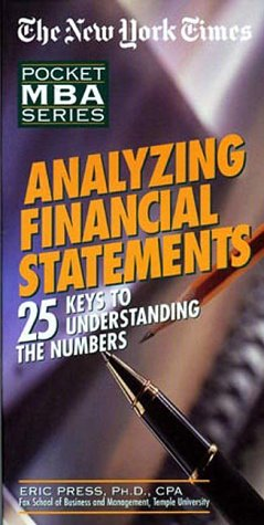 9781885408389: The New York Times Pocket MBA Series: Analyzing Financial Statements