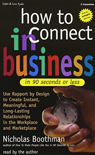 9781885408822: How to Connect in Business in 90 Seconds or Less
