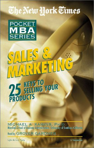 9781885408969: Sales & Marketing: The New York Times Pocket MBA Series