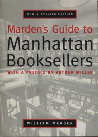 9781885492456: Marden's Guide to Manhattan Booksellers
