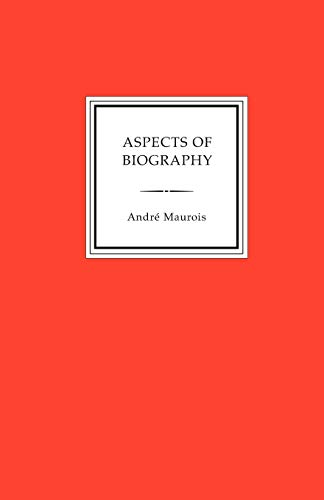 9781885586933: Aspects of Biography