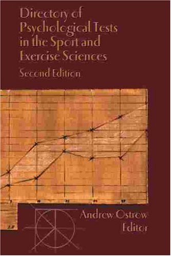 9781885693068: Directory of Psychological Tests in the Sport and Exercise Sciences