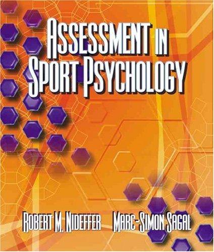 Assessment in Sport Psychology: Nideffer, Robert M.; Sagal, Marc-Simon