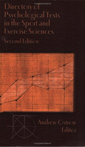 9781885693402: Directory of Psychological Tests in the Sport and Exercise Sciences