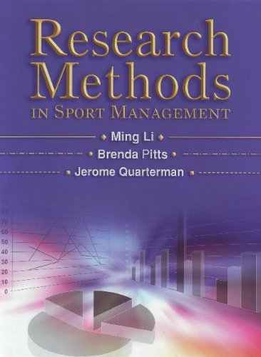9781885693853: Research Methods in Sport Management