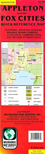 9781885825452: Appleton and the Fox Cities quick reference map: Featuring Appleton, Kaukauna, Menasha, Neenah, Kimberly, Little Chute, Combined Locks, and the town of Grand Chute