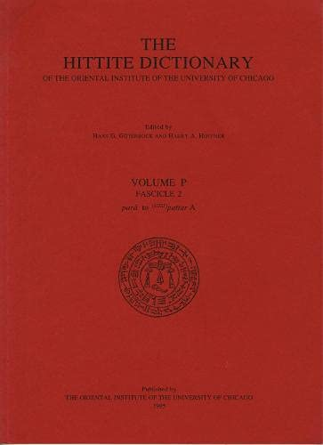 9781885923004: Hittite Dictionary: Fascicle 2: P