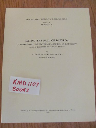 Dating the fall of Babylon: A reappraisal: N/A