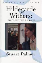 Hildegarde Withers: Uncollected Riddles: Palmer, Stuart