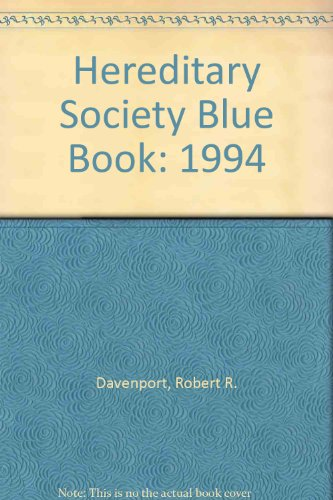 9781885943019: Hereditary Society Blue Book: 1994