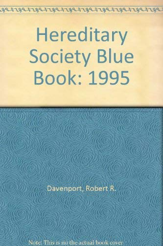 9781885943026: Hereditary Society Blue Book: 1995