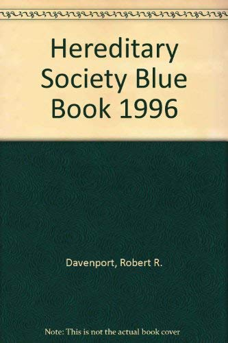 9781885943040: Hereditary Society Blue Book 1996