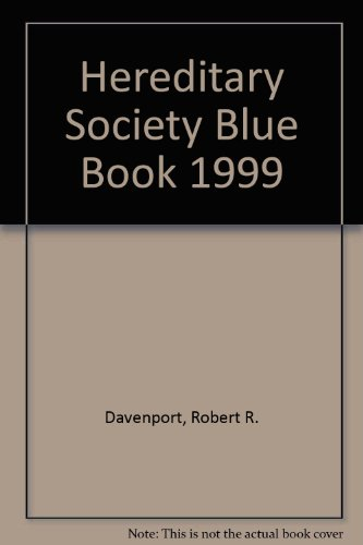 9781885943071: 1999 Hereditary Society Blue Book