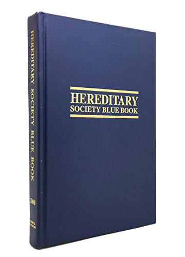 9781885943088: 2000 Hereditary Society Blue Book (Hereditary Society Blue Book)