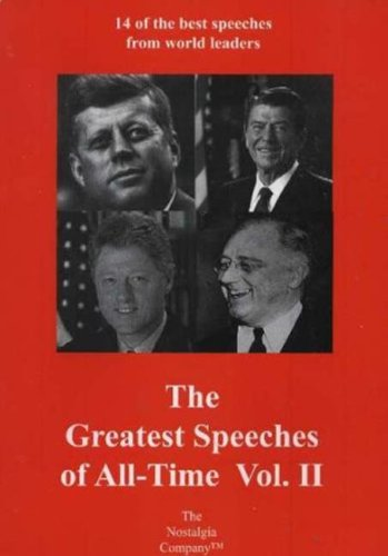 9781885959676: The Greatest Speeches of All Time, Vol. 2: The Nostalgia Company