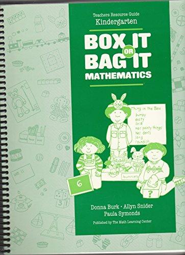 9781886131002: Box It or Bag It Mathematics: Kindergarten / Spiral-bound Teachers Resource Guide plus Blackline Masters