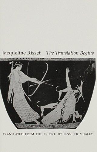 9781886224094: The Translation Begins (Serie D'Ecriture)