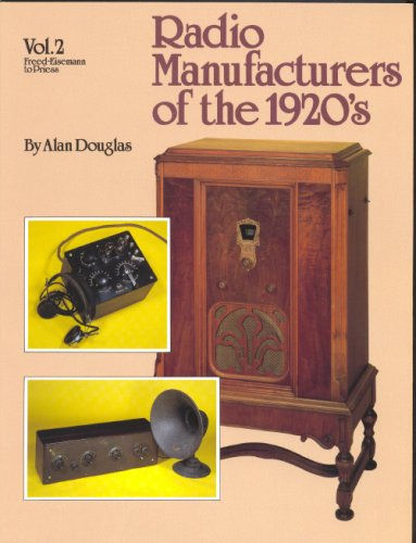 9781886606005: Radio Manufacturers of the 1920's: Vol. 2