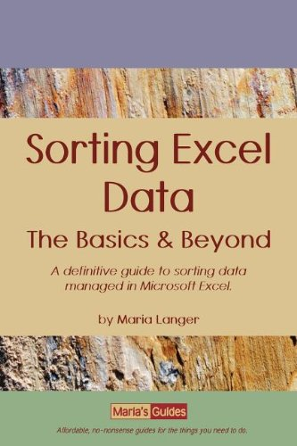 9781886637054: Sorting Excel Data: The Basics & Beyond