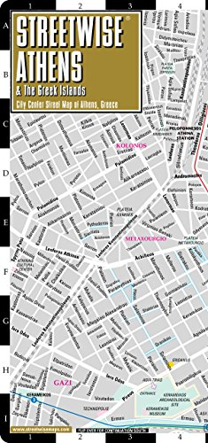 Streetwise Athens Map - Laminated City Center Street Map of Athens, Greece - Folding pocket size ...