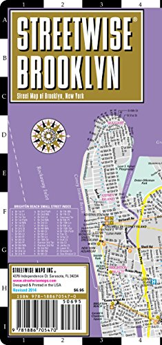 9781886705470: Streetwise Brooklyn Map - Laminated City Center Street Map of Brooklyn, New York - Folding pocket size travel map with subway stations
