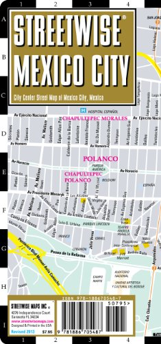 9781886705487: Streetwise Mexico City Map - Laminated City Center Street Map of Mexico City, MX - Folding pocket size travel map with metro map