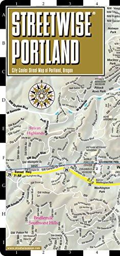 9781886705517: Streetwise Portland Map - Laminated City Center Street Map of Portland, Oregon - Folding pocket size travel map with Max Light Rail map