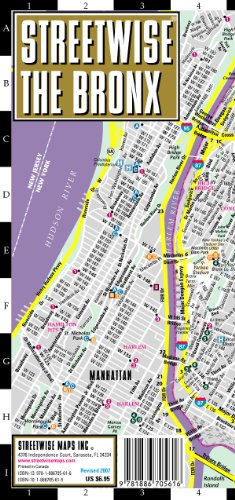 9781886705616: Streetwise The Bronx Map - Laminated City Center Street Map of The Bronx, New York - Folding pocket size travel map with subway stations