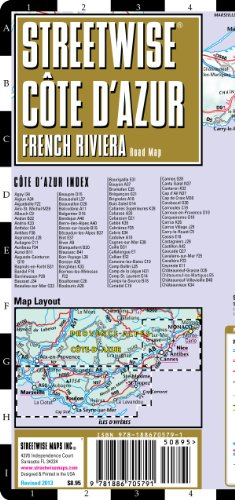 9781886705791: Streetwise French Riviera Map - Laminated Road Map of the French Riviera