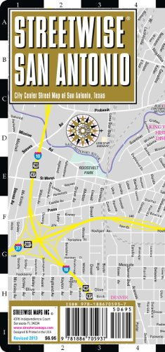 9781886705937: Streetwise San Antonio Map - Laminated City Center Street Map of San Antonio, Texas - Folding pocket size travel map