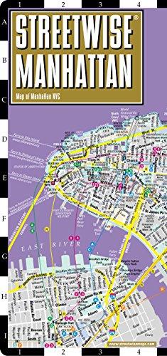 Streetwise Manhattan Map - Laminated City Street Map of Manhattan, New York - Folding pocket size ...