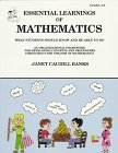 Essential Learnings of Mathematics: What Students Should Know and Be Able to Do: Banks, Janet ...