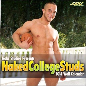 9781886888289: Jocks Studios Naked College Studs 2014 Wall Calendar