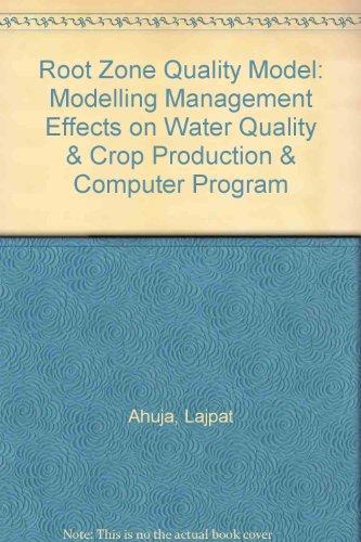 Root Zone Water Quality Model : Modelling: K. W. Rojas;