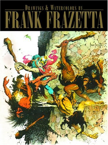 9781887424851: Drawings And Watercolors Of Frank Frazetta